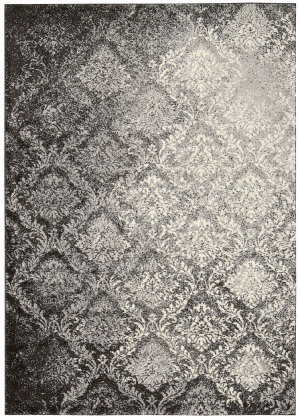 Kathy Ireland Ki02 Santa Barbara Royal Shimmer Ki201 Grey Area Rug