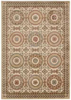 Kathy Ireland Ki05 Villa Retreat Celestial Elegance Ki502 Cream Area Rug