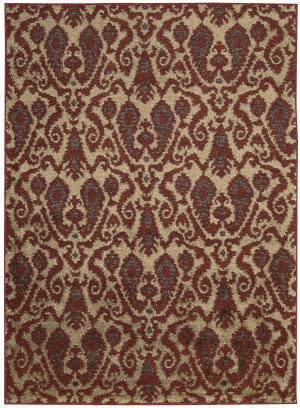 Nourison Kindred Kin09 Ivory Red Area Rug