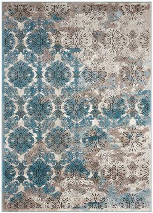 Nourison Karma Krm05 Ivory-Blue Area Rug
