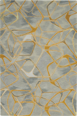 Nourison Symmetry Smm05 Grey - Yellow Area Rug