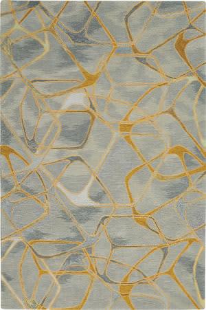 Nourison Symmetry Smm05 Grey - Yellow Area Rug