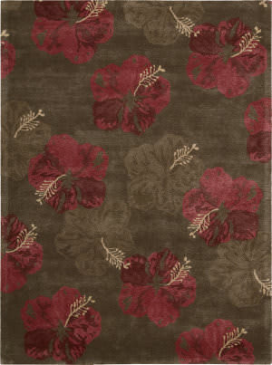 Nourison Lakeside LAK02 Chocolate Red Area Rug