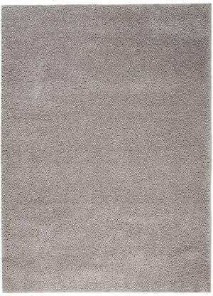 Nourison Malibu Shag Msg01 Silver Grey Area Rug