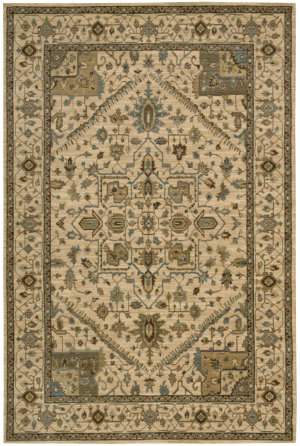 Nourison Living Treasures LI-01 Beige Area Rug