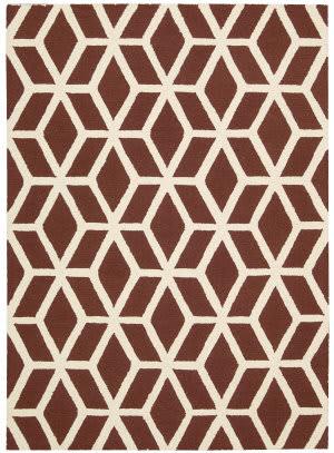 Nourison Linear Lin01 Brick Ivory Area Rug