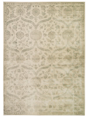 Nourison Luminance Lum04 Cream Mint Area Rug