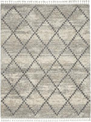 Nourison Oslo Shag Osl01 Ivory - Grey Area Rug