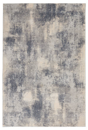 Nourison Rustic Textures Rus02 Blue - Ivory Area Rug