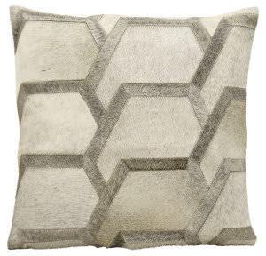 Nourison Pillows Natural Leather Hide M1078 Grey