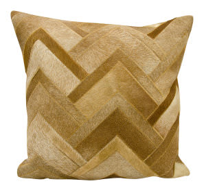 Nourison Natural Leather And Hide Pillow M1217 Amber