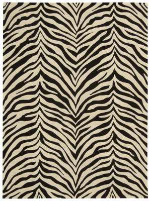 Michael Amini Zambiana Ma401 Black - White Area Rug