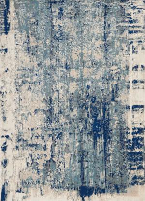 Nourison Maxell Mae16 Ivory Blue Area Rug