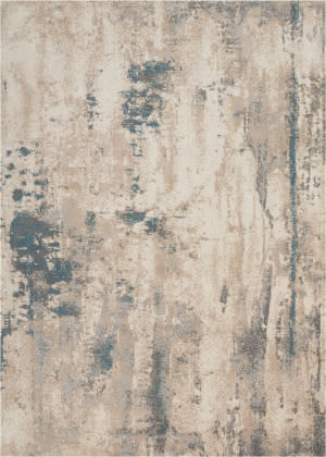 Nourison Maxell Mae17 Ivory - Teal Area Rug