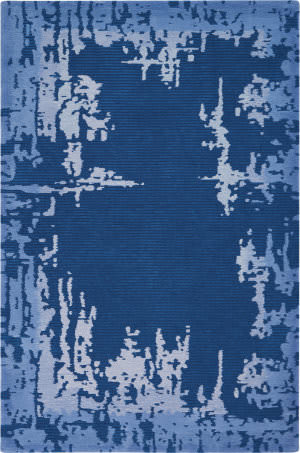 Nourison Symmetry Smm02 Navy Blue Area Rug