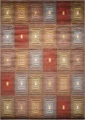 Nourison Mondrian Rtm07 Brown Area Rug