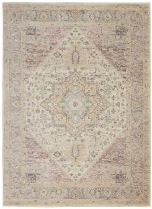 Nourison Tranquil Tra06 Ivory - Pink Area Rug