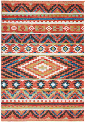 Nourison Navajo Nav04 Orange Area Rug