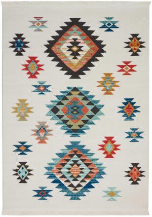 Nourison Navajo Nav07 White Area Rug