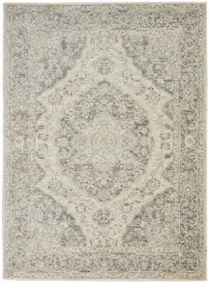 Nourison Tranquil Tra05 Ivory - Grey Area Rug