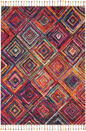 Nourison Nomad Nmd01 Red Multi Colored Area Rug