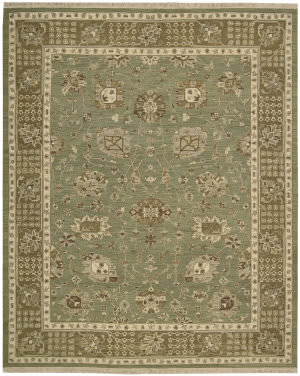 Nourison Nourmak Encore Noe03 Chocolate Mint Area Rug