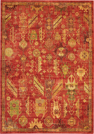 Nourison Vintage Tradition Vgt04 Red Area Rug