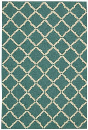Nourison Portico Por01 Aqua Area Rug