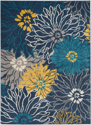 Nourison Passion Psn17 Blue Area Rug