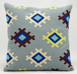 Nourison Pillows Wool Q2604 Deep Sea
