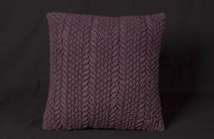 Nourison Mina Victory Pillows Felt R2354 Aubergine