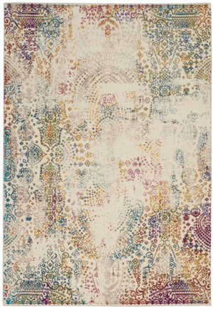 Nourison Radiant Rad03 Ivory - Multicolor Area Rug