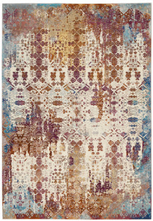 Nourison Radiant Rad04 Ivory - Multicolor Area Rug