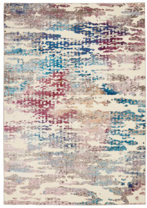 Nourison Radiant Rad10 Ivory - Multicolor Area Rug