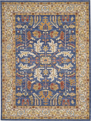 Nourison Majestic Mst02 Denim Blue Area Rug