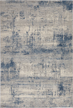 Nourison Rustic Textures Rus10 Ivory - Blue Area Rug