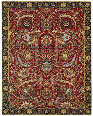 Nourison Rhapsody Rh015 Red Area Rug