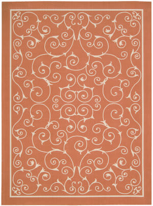 Nourison Home and Garden RS-019 Orange Area Rug
