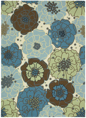 Nourison Home and Garden RS-021 Light Blue Area Rug