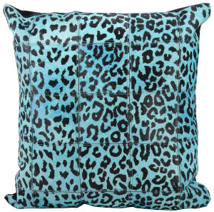 Nourison Pillows Natural Leather Hide S1500 Turquoise