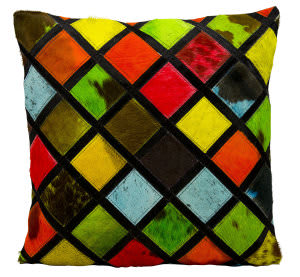 Nourison Pillows Natural Leather Hide S1894 Multicolor
