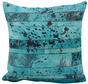 Nourison Pillows Natural Leather Hide S1975 Aqua - Green