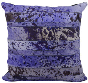 Nourison Pillows Natural Leather Hide S1975 Purple