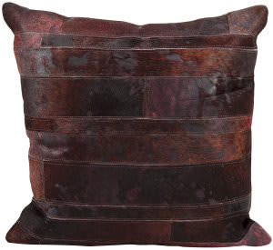 Nourison Pillows Natural Leather Hide S1975 Wine
