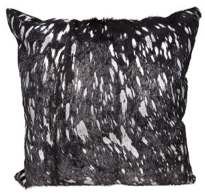 Nourison Mina Victory Pillows S6129 Black Silver