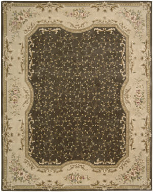 Nourison Chateau Provence SB-11 Brown Area Rug