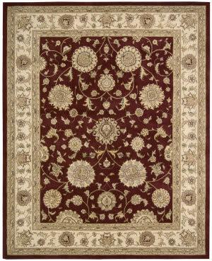 Nourison Silk Touch Sch01 Burgundy Area Rug