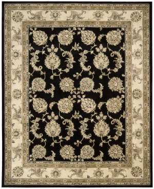 Nourison Silk Touch Sch02 Black Area Rug