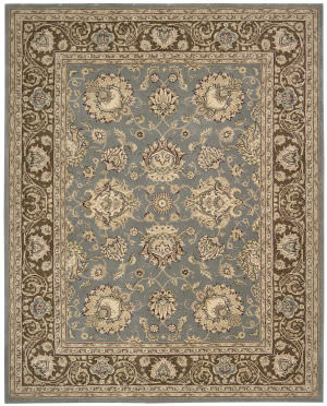 Nourison Silk Touch Sch04 Blue Brown Area Rug