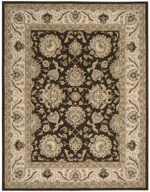 Nourison Silk Touch Sch04 Brown Area Rug